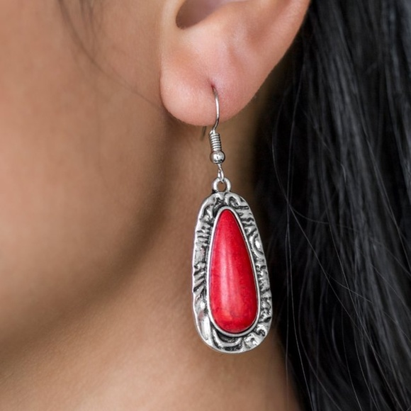 paparazzi Jewelry - Cruzin Colorado - Red Earrings